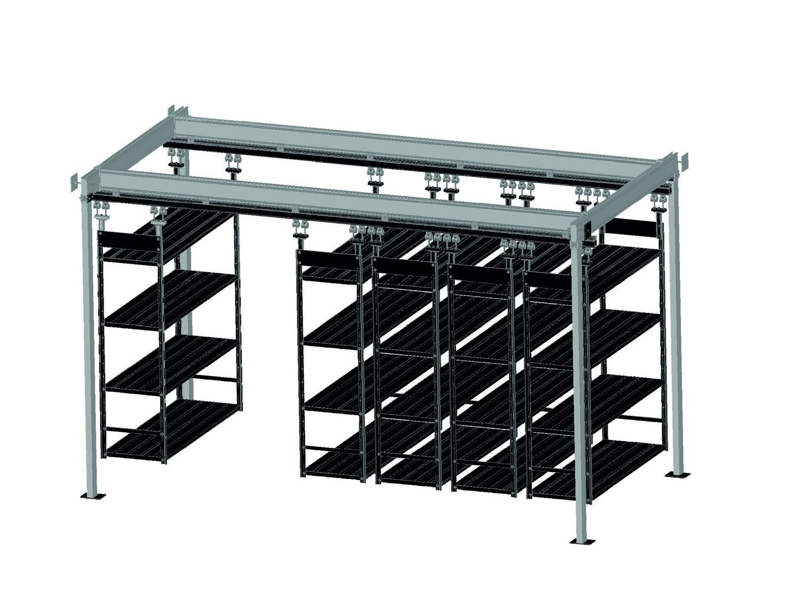 esempio di scaffalatura aerea modulare